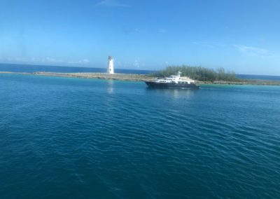 Arriving in the Bahamas